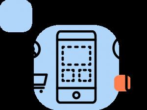 Ícone dos canais de comunicação.