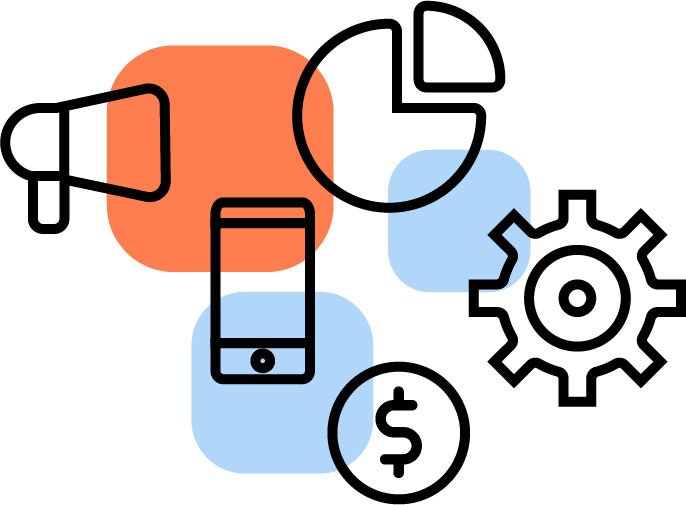 Ícone da otimização em dispositivos mobile.